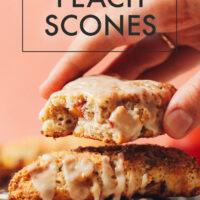 Plate of vegan and gluten-free peach scones