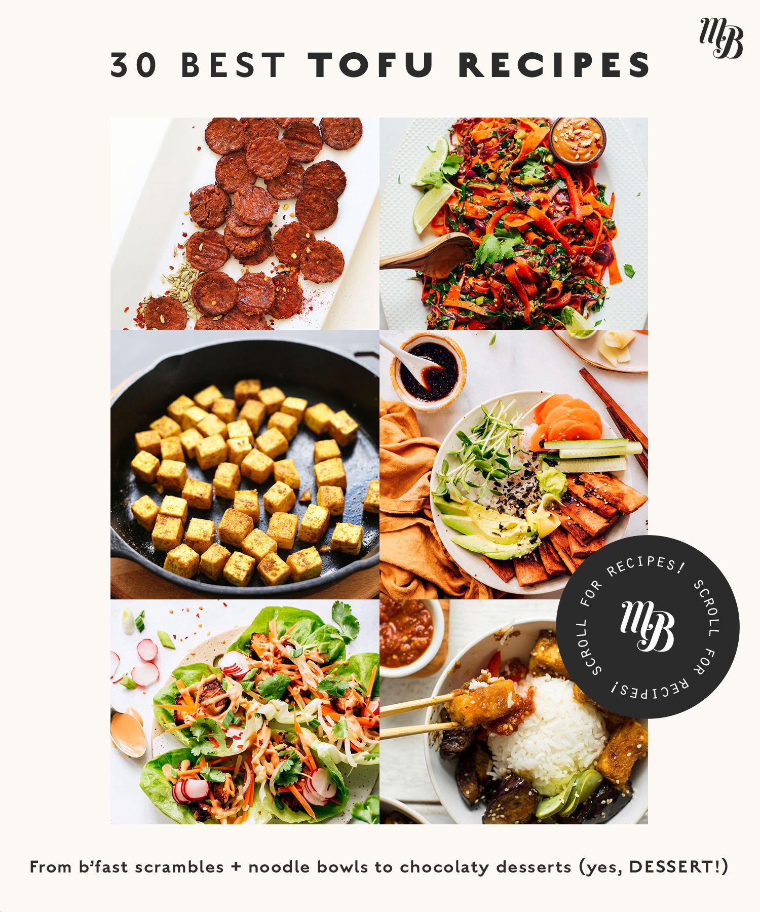 Vegan pepperoni, bowls, lettuce wraps, and other tofu recipes