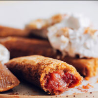 Plate of vegan and gluten-free apple butter dessert tamales