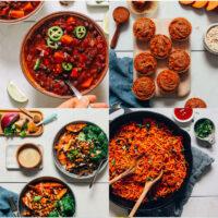 Assortment of gluten-free sweet potato recipes